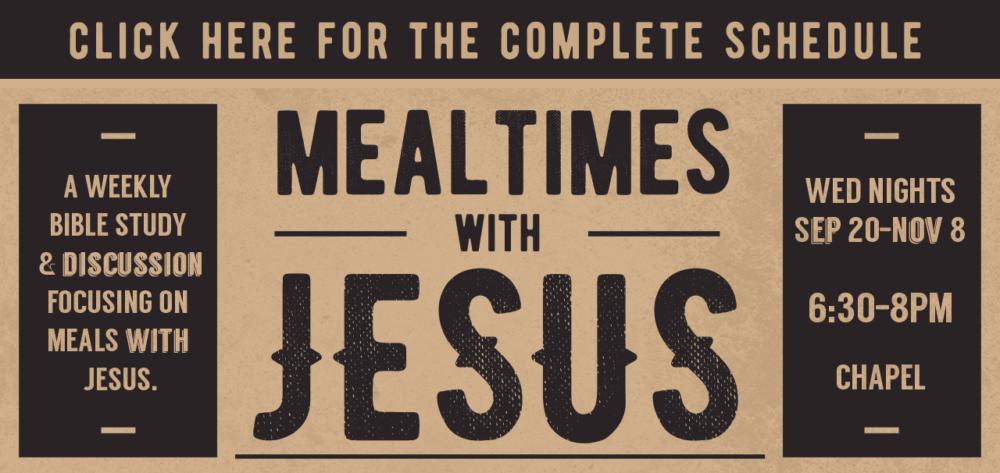 Mealtimes Week 9